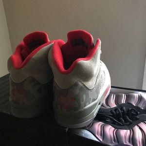 Jordan's size 10 camouflage and red